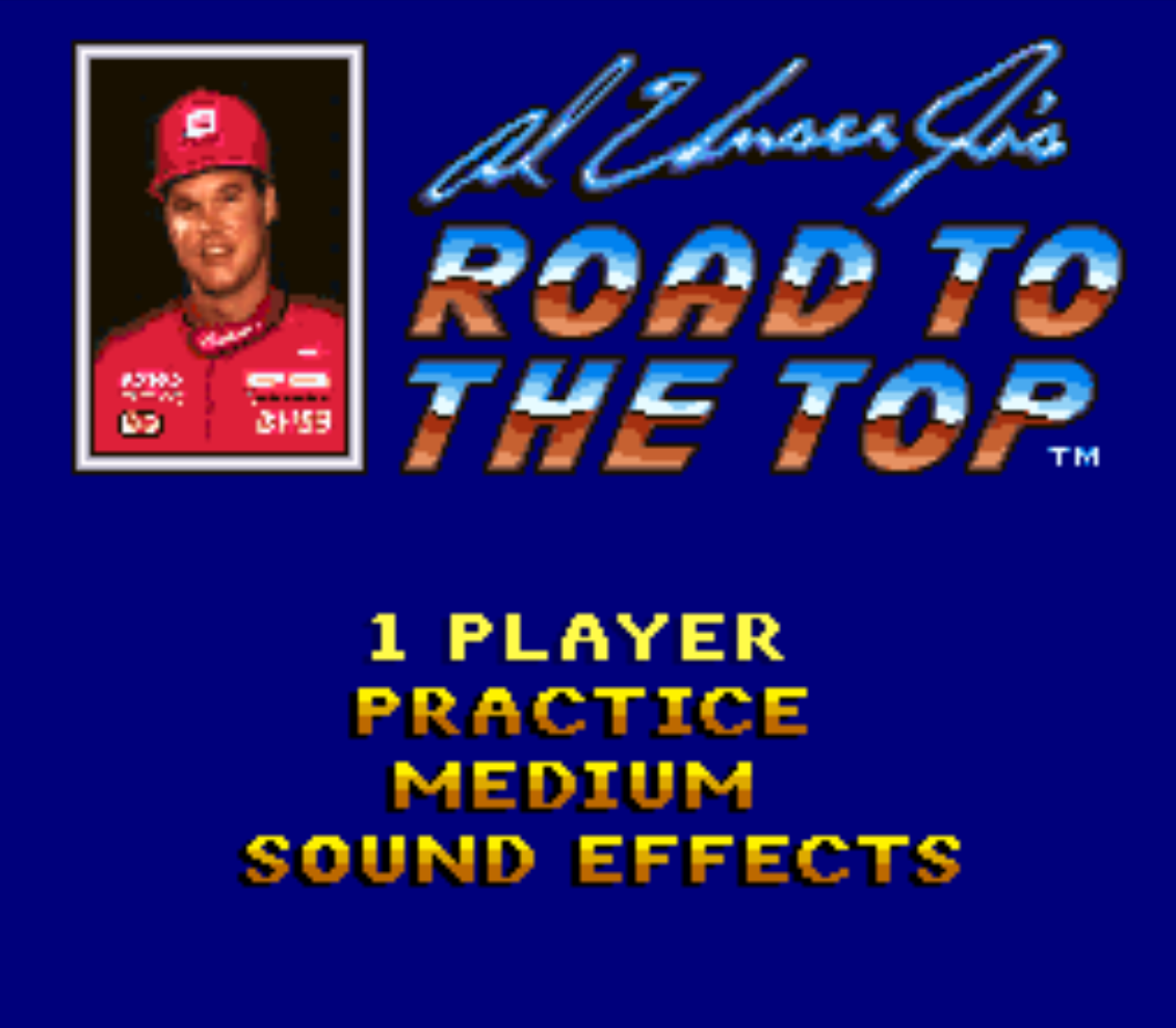 Al Unser Jrs Road to the Top Title Screen
