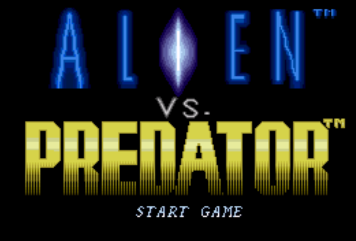 Alien Vs Predator Title Screen