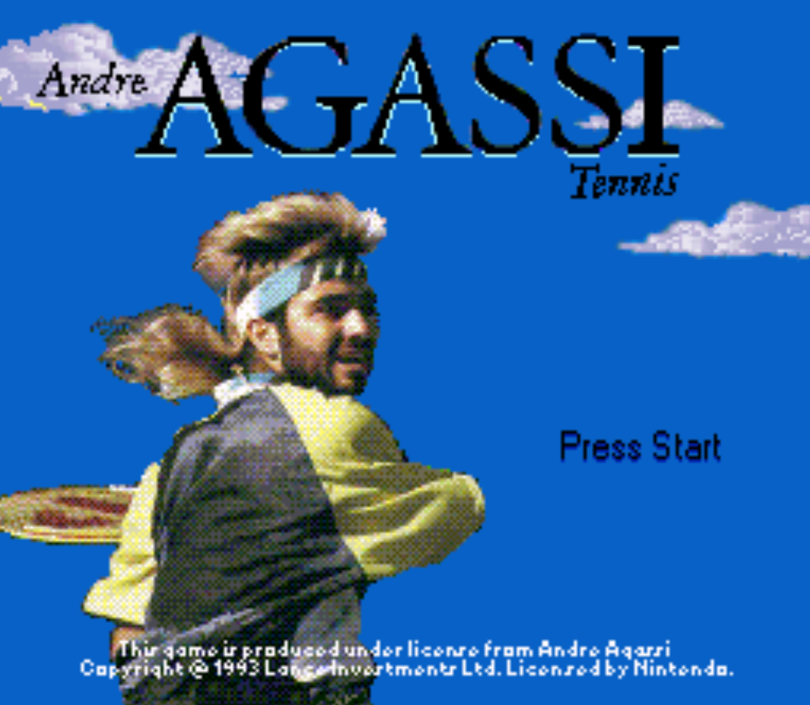 Andre Agassi Title Screen