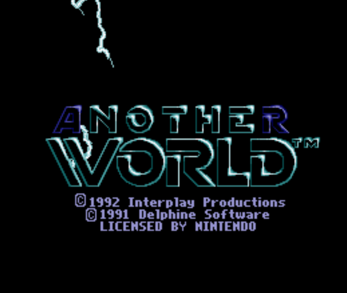 Another World Title Screen