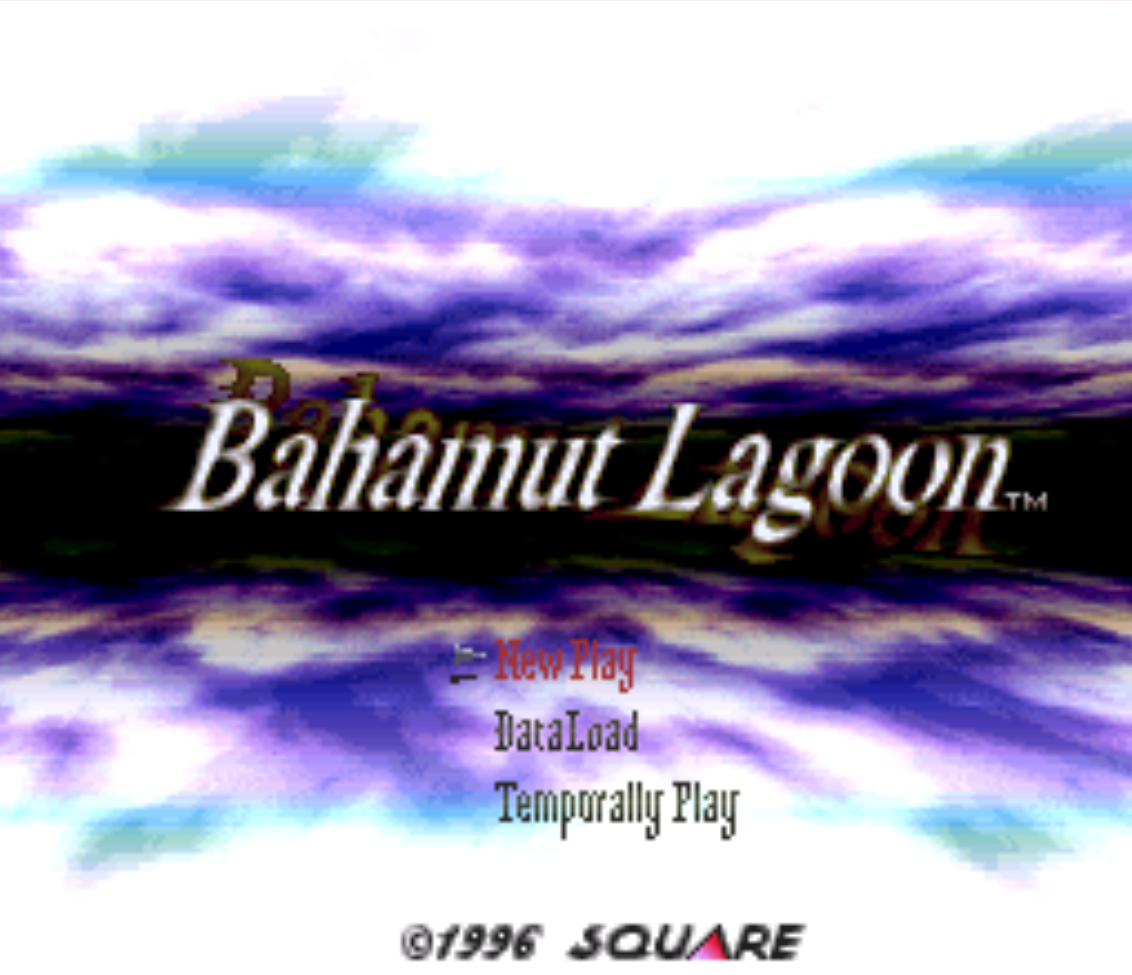 Bahamut Lagoon Title Screen