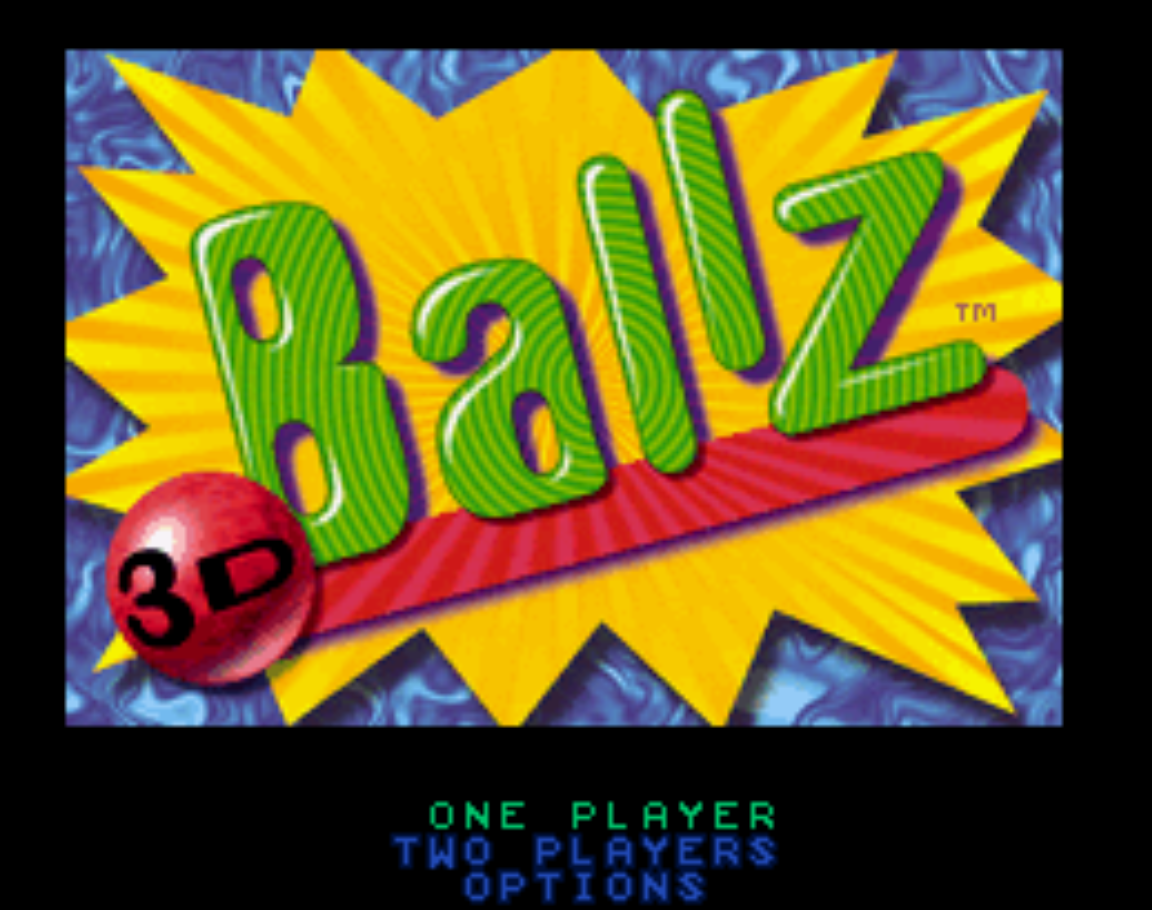 Ballz 3D Title Screen