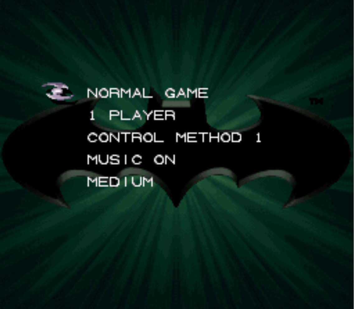 Batman Forever Title Screen