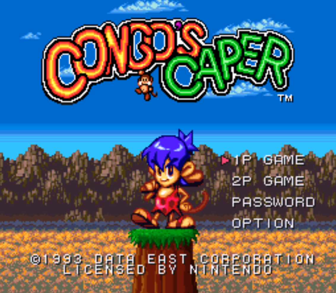 Congos Caper Title Screen