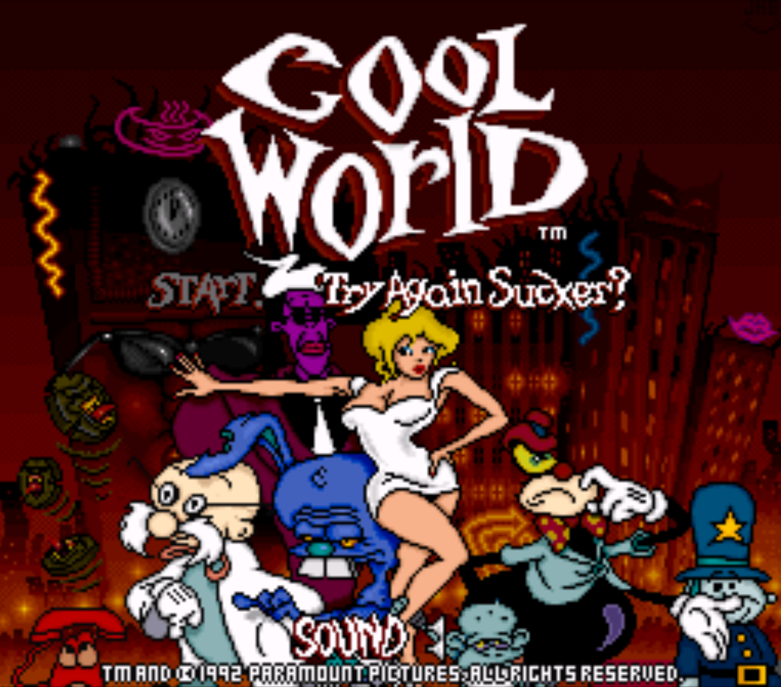 Cool World Title Screen