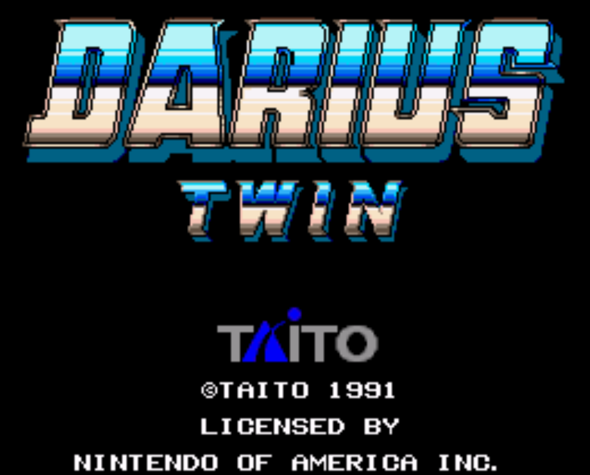 Darius Twin Title Screen