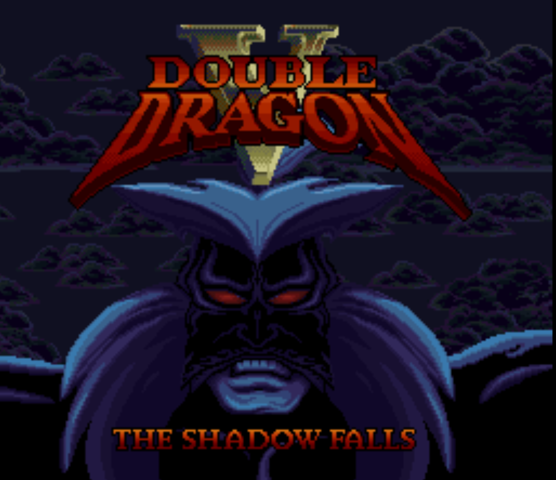 Double Dragon V Title Screen
