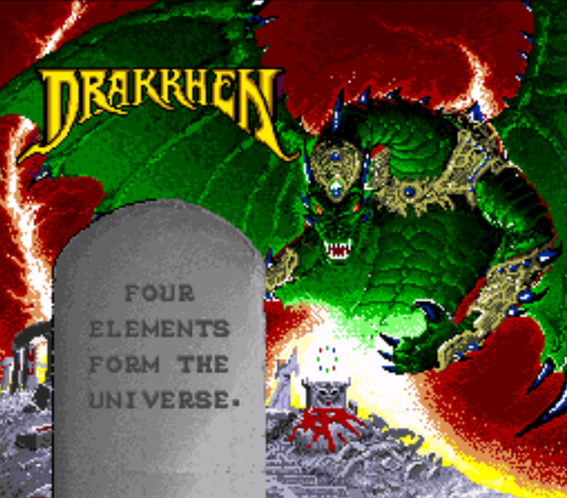 Drakkhen Title Screen