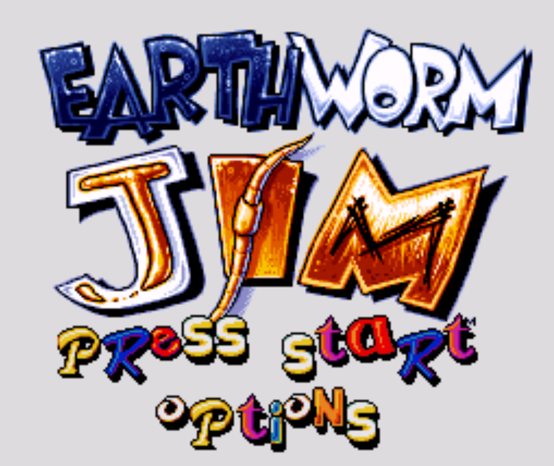 Earthworm Jim Title Screen