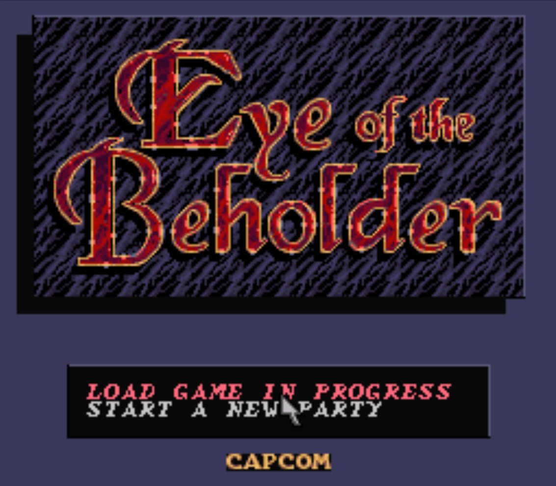 Eye of the Beholder Title Screen