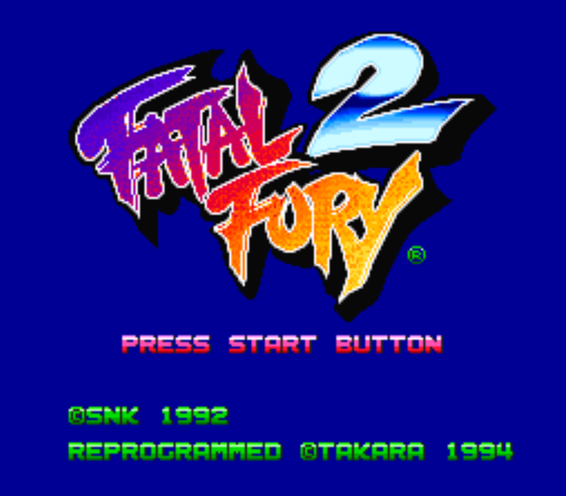 Fatal Fury 2 Title Screen