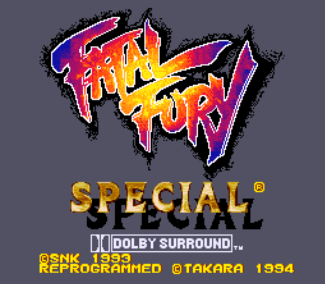 Fatal Fury Special Title Screen
