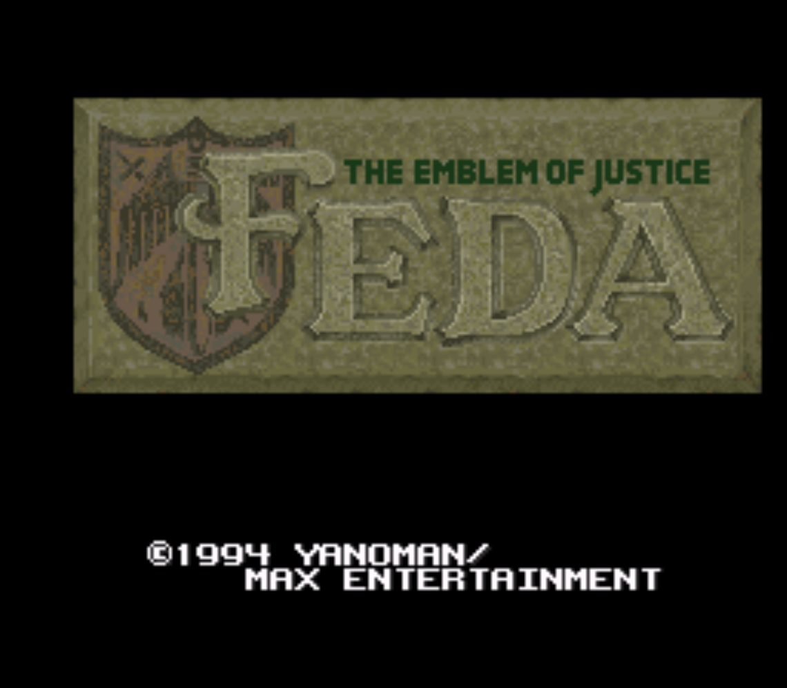 Feda the emblem of justice title scren