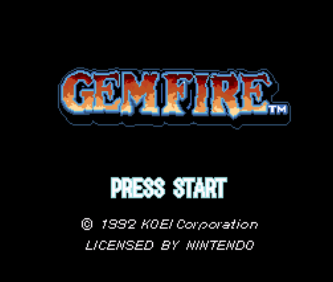 Gemfire Title Screen