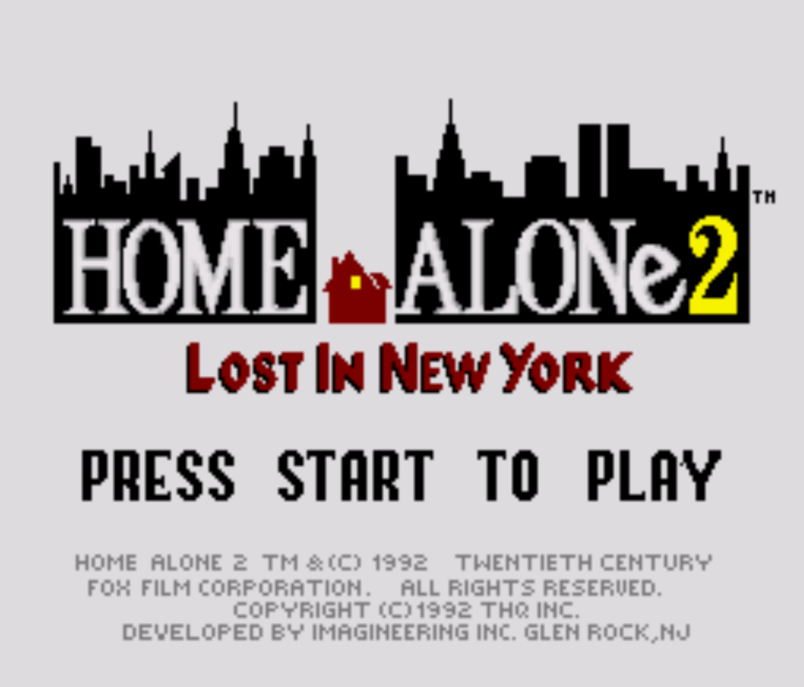 Home Alone 2 Title Screen