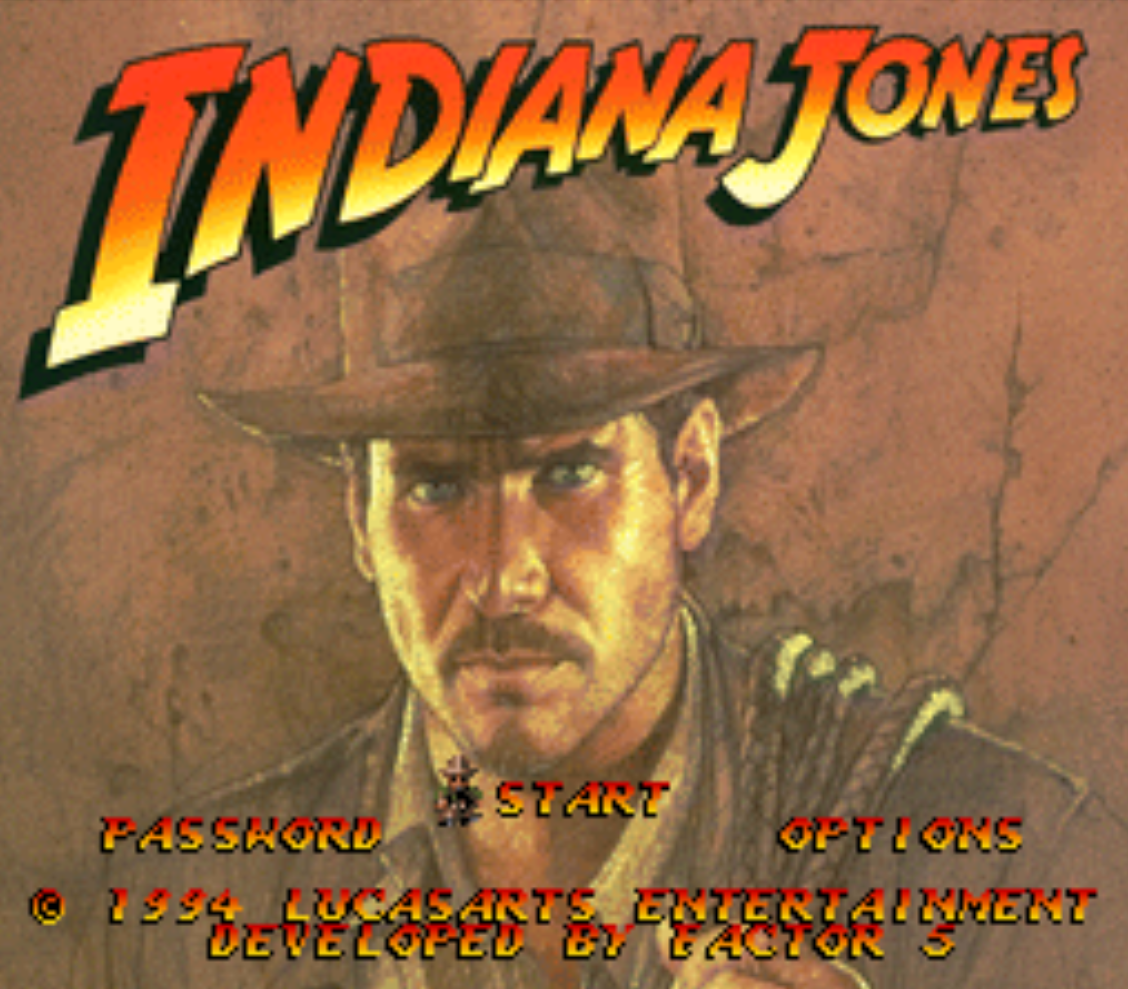 Indiana Jones Title Screen