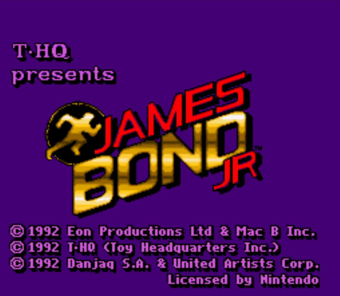 James Bond Jr Title Screen