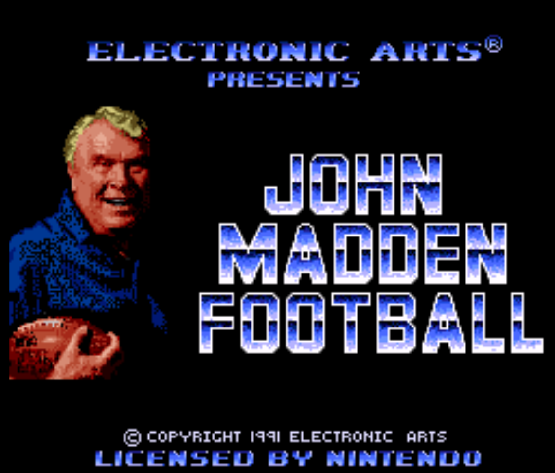 John Madden Football Title Screen