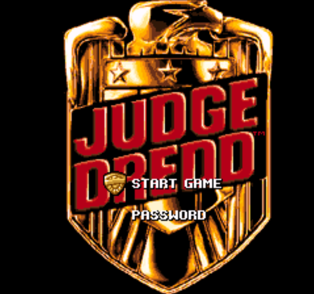 Judge Dredd Title Screen