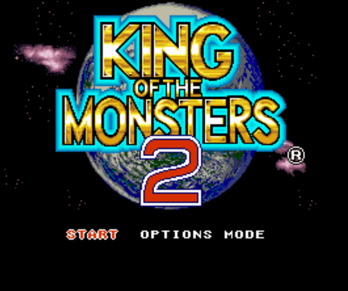 King of the Monsters 2 Title Screen