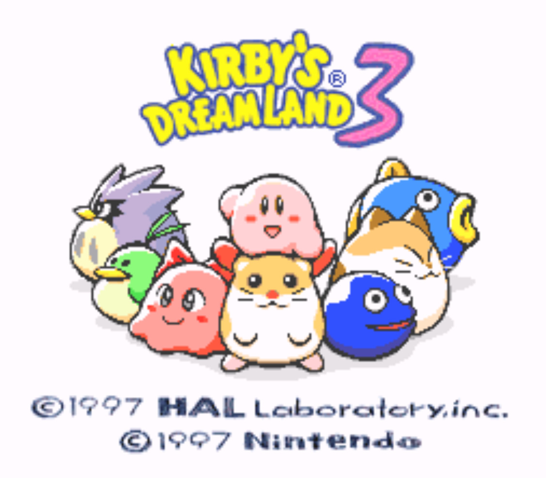 Kirbys Dreamland 3 Title Screen