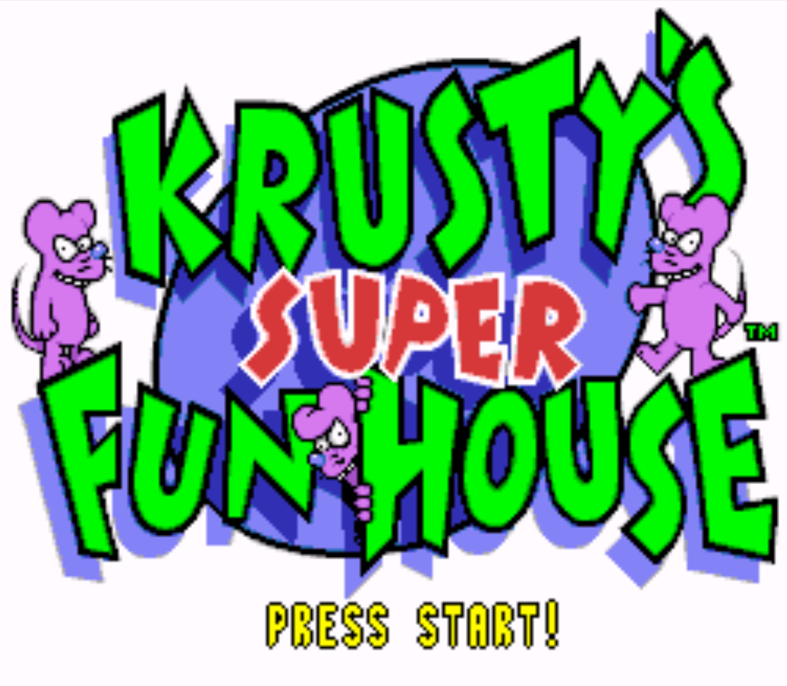 Krustys Super Fun House Title Screen