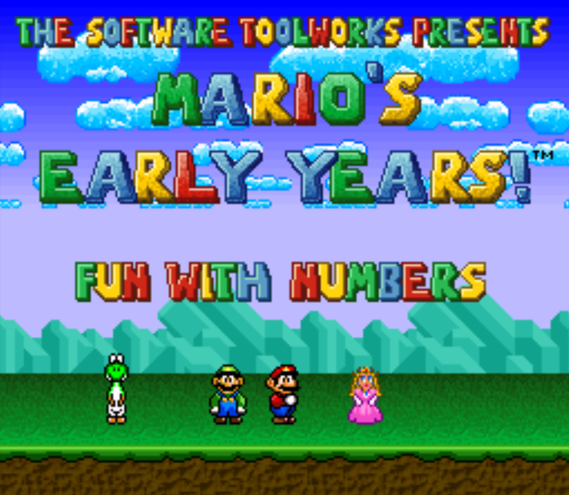Marios Early Years Fun with numbers title screen