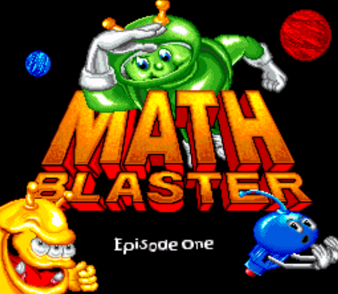 Math Blaster Episode One Title Screen
