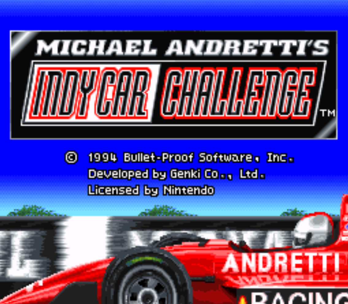 Michael Andrettis Indy Car Challenge Title Screen