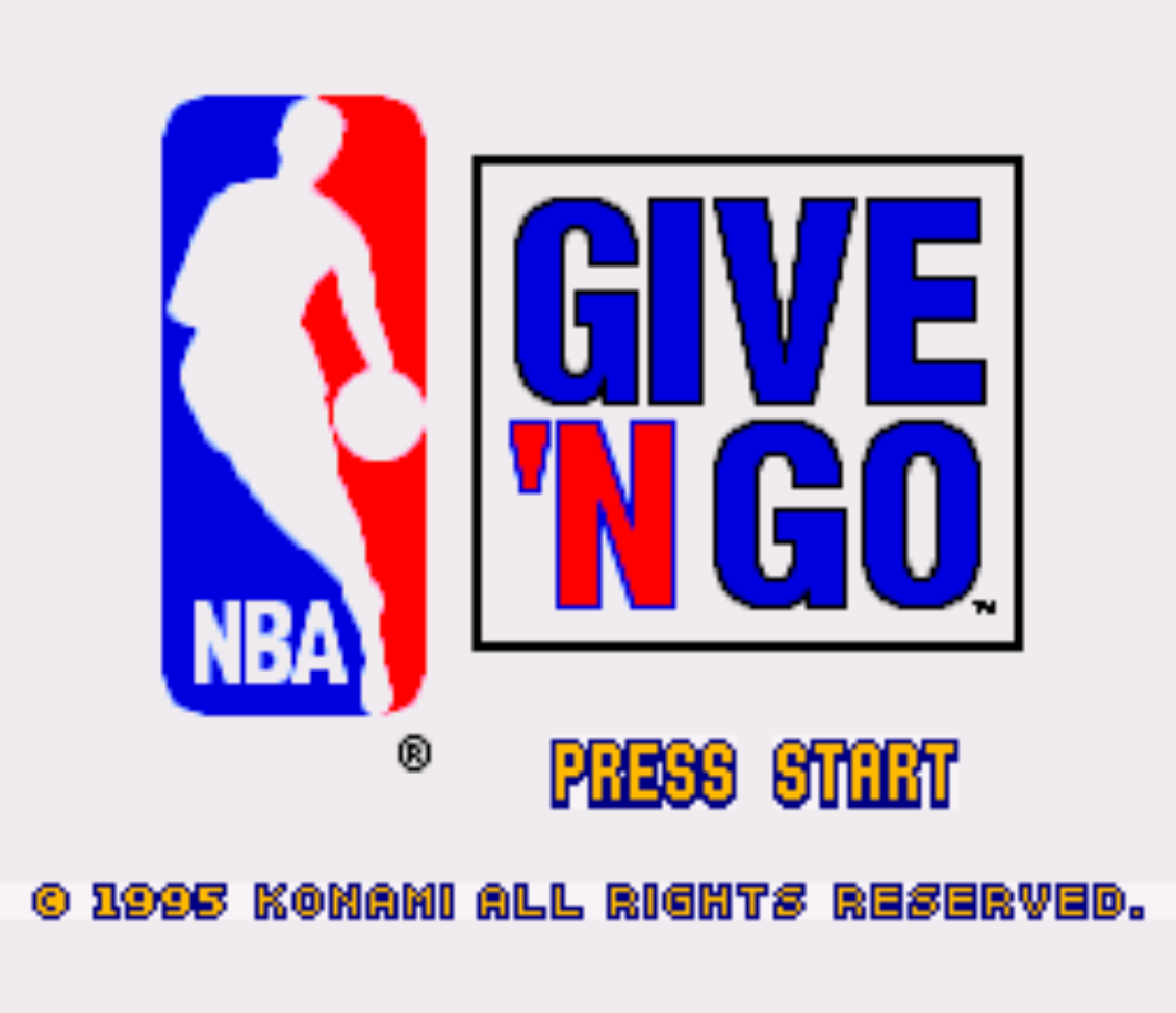 NBA Give N Go Title Screen