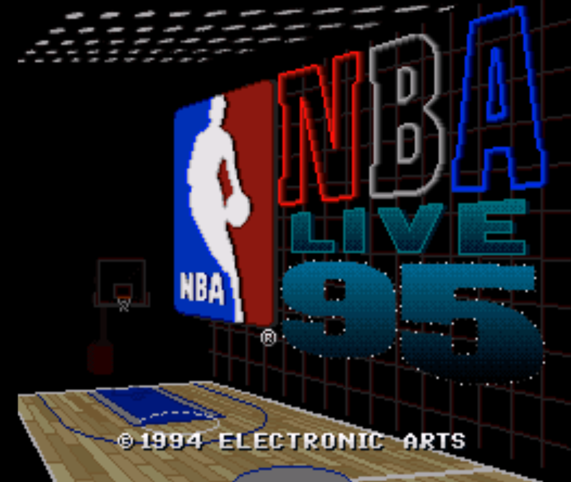 NBA Live 95 Title Screen