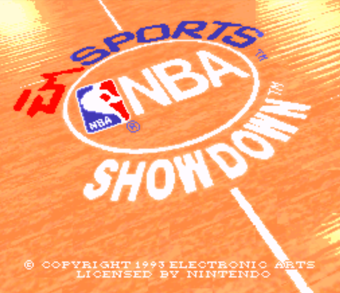NBA Showdown Title Screen