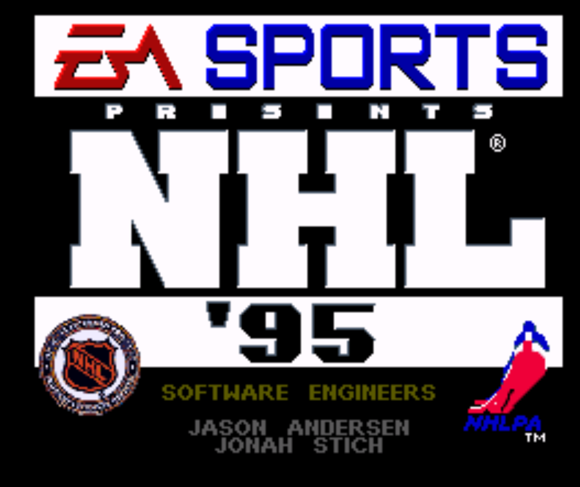 NHL 95 Sports Title Screen