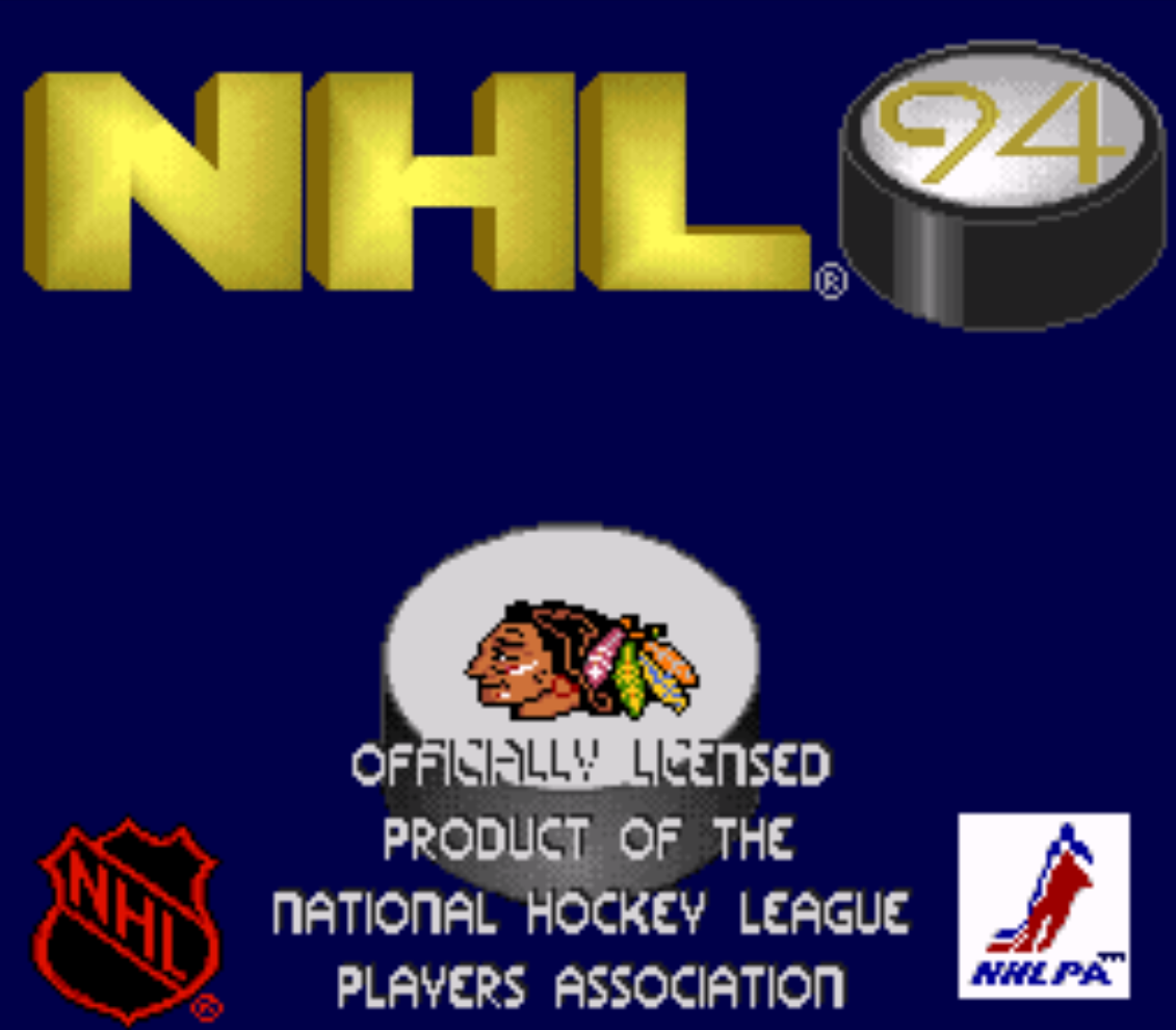 NHL Hockey 94 Title Screen