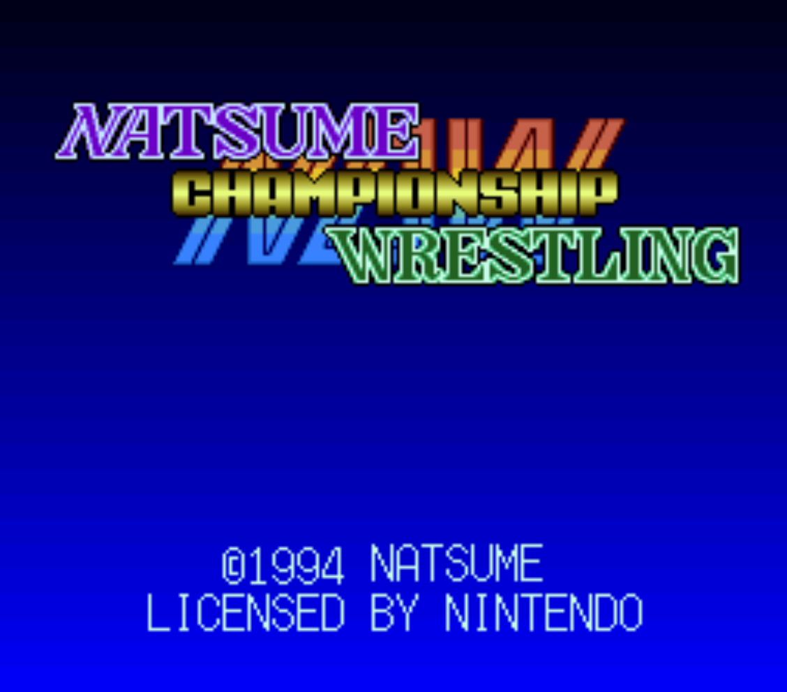 Natsume Championship Wrestling Title Screen