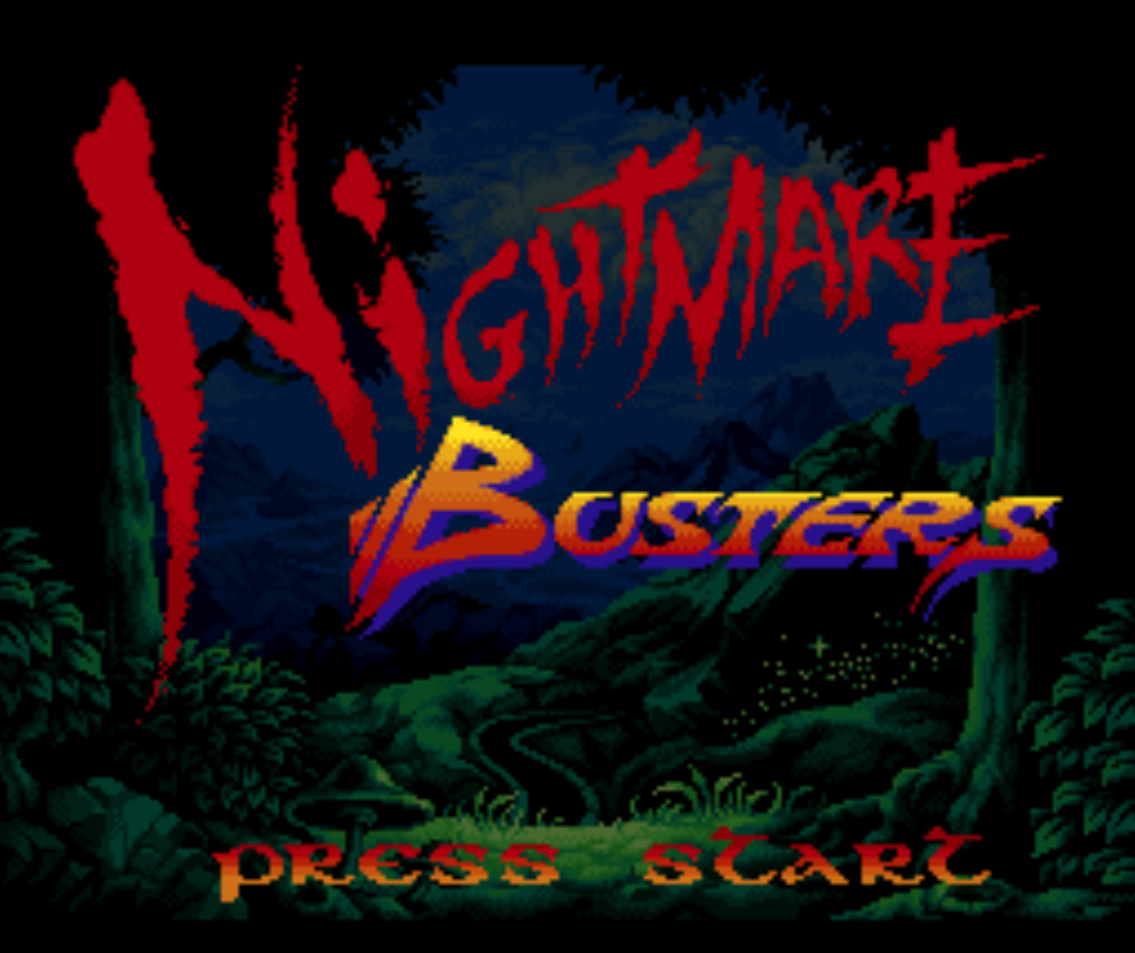 Nightmare Busters Title Screen