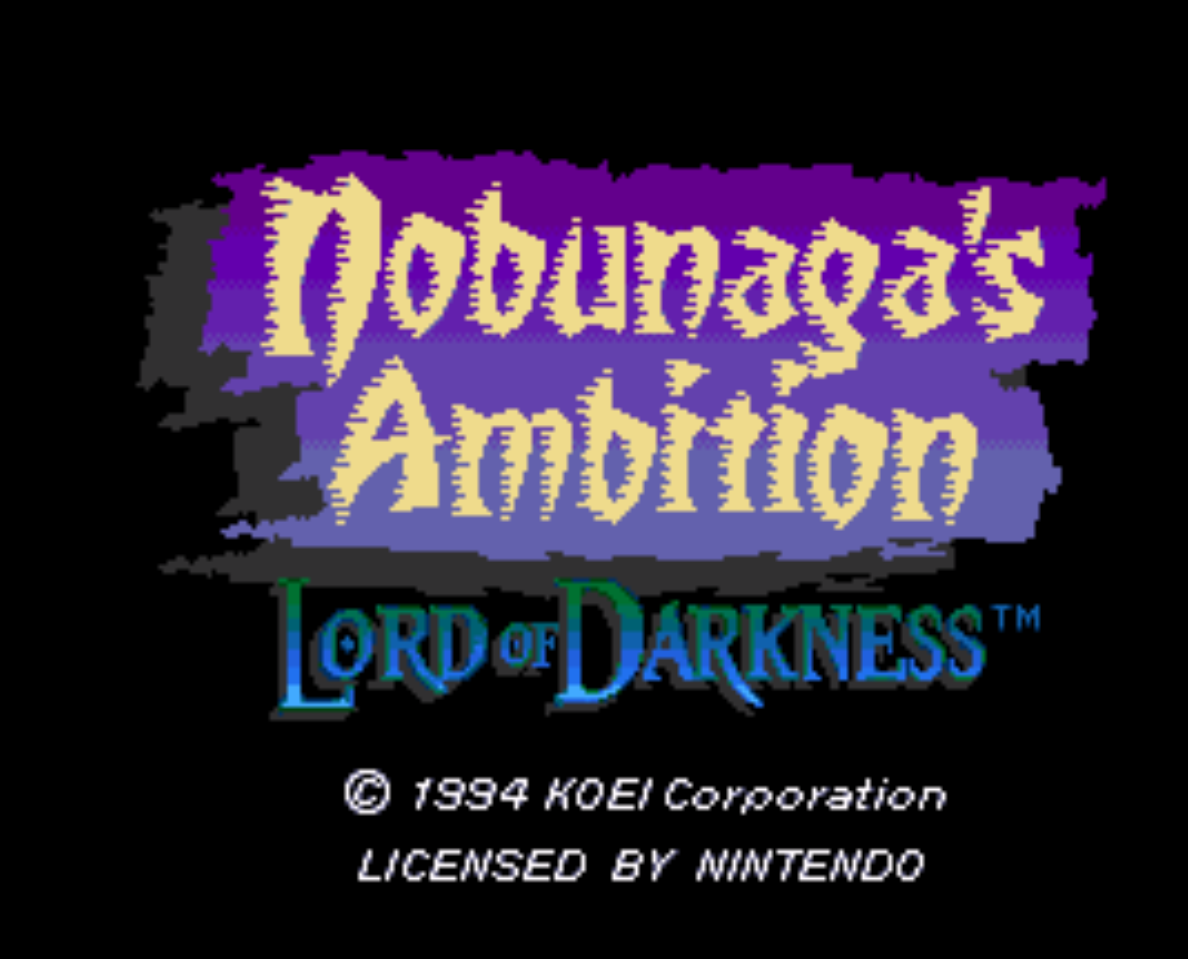 Nobunagas Ambition Lord of Darkness Title Screen