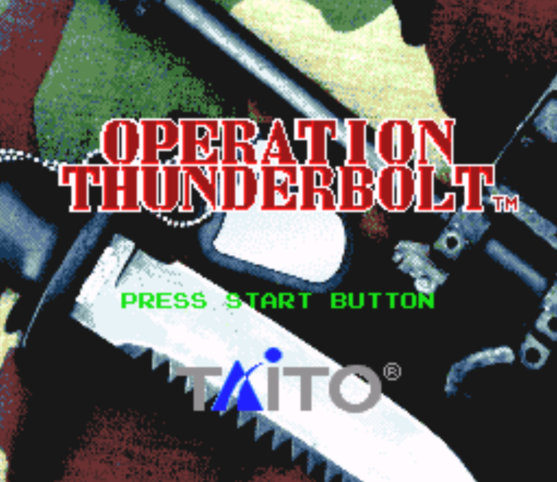 Operation Thunderbolt Title Screen