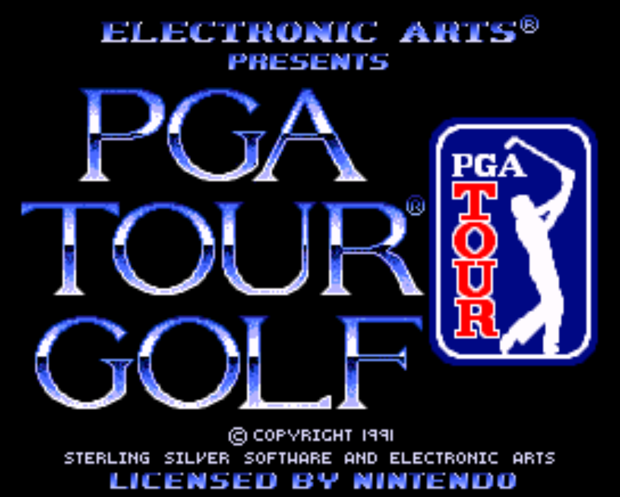 PGA Tour Golf Title Screen