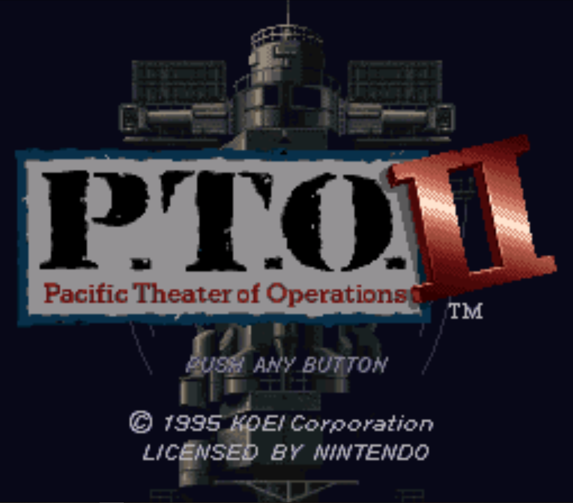 PTO II Pacific Theater of Operations Title Screen