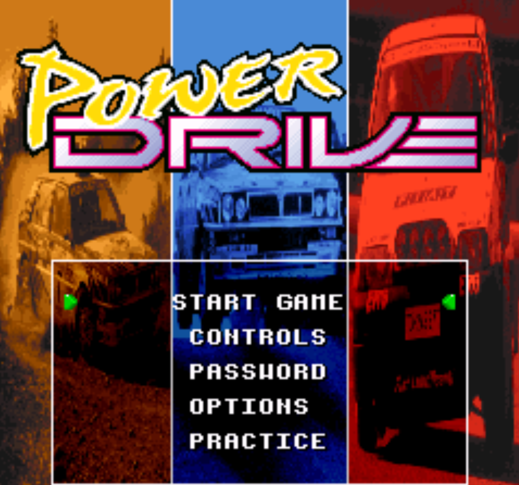 Power Drive Title Screen
