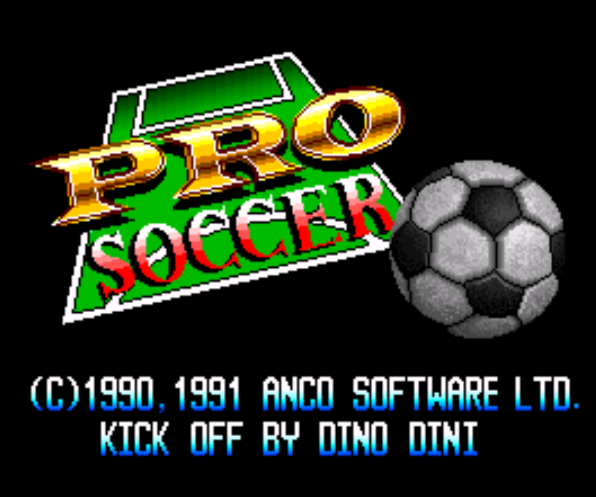 Pro Soccer Title screen