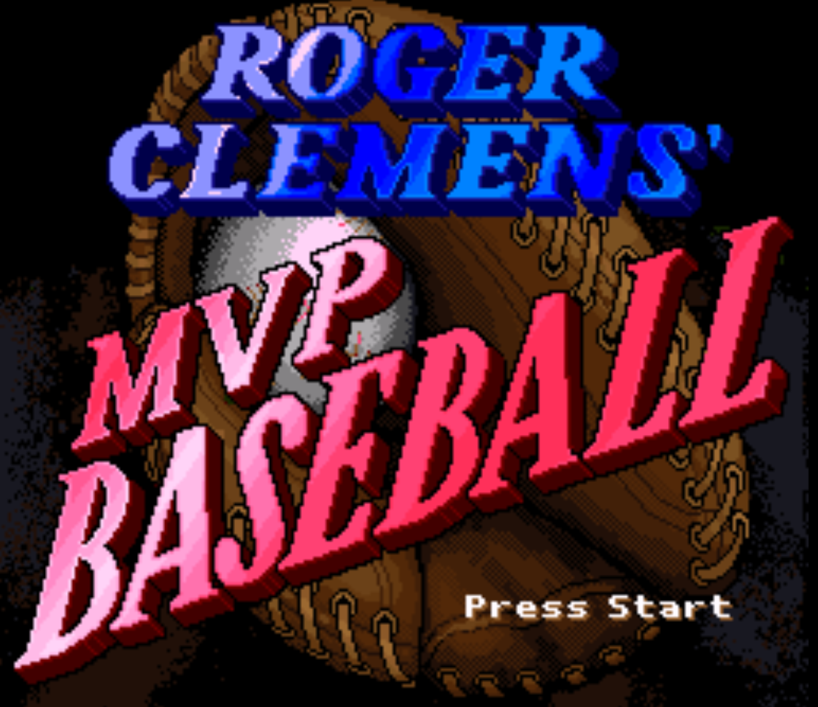 Roger Clemens MVP Baseball Title Screen