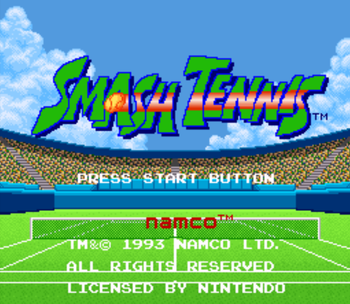 Smash Tennis Title Screen