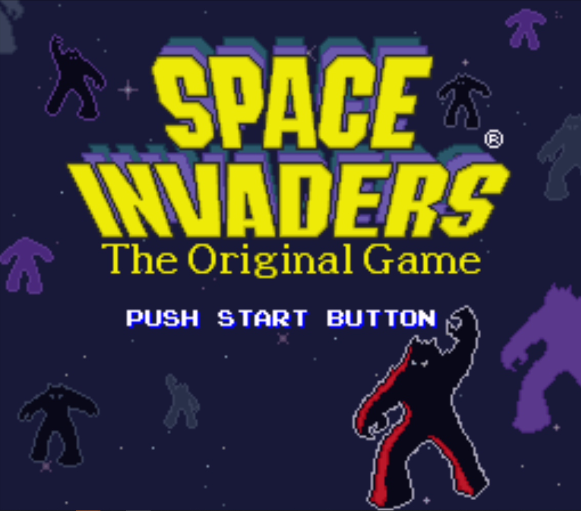 Space Invaders Title Screen