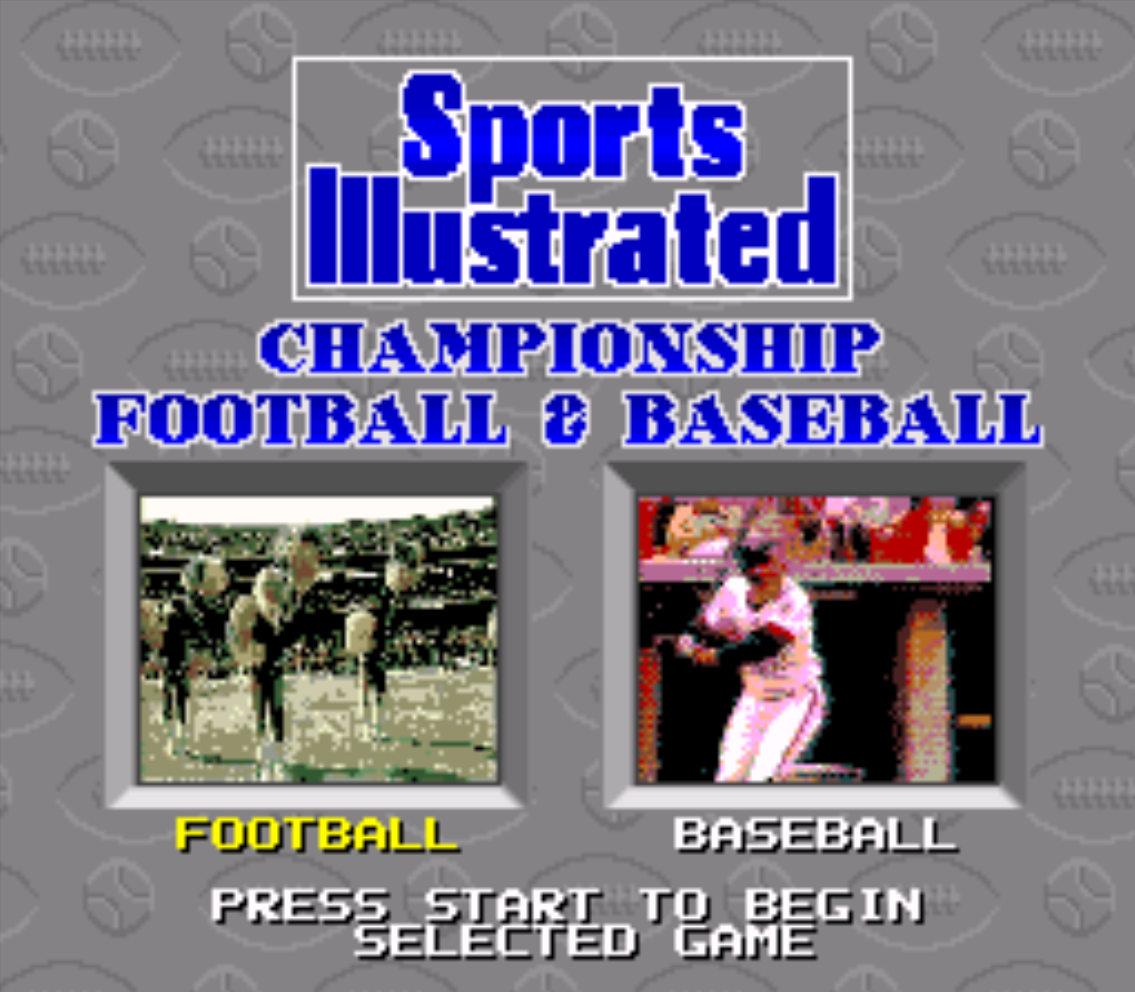 Sports Illustrated Title Screen