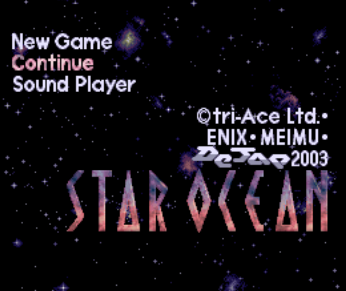 Star Ocean Title Screen