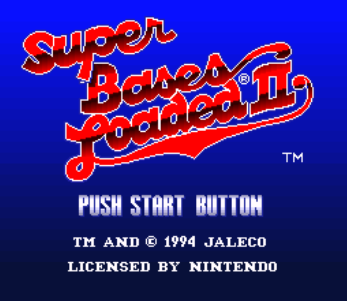 Super Bases Loaded II Title Screen