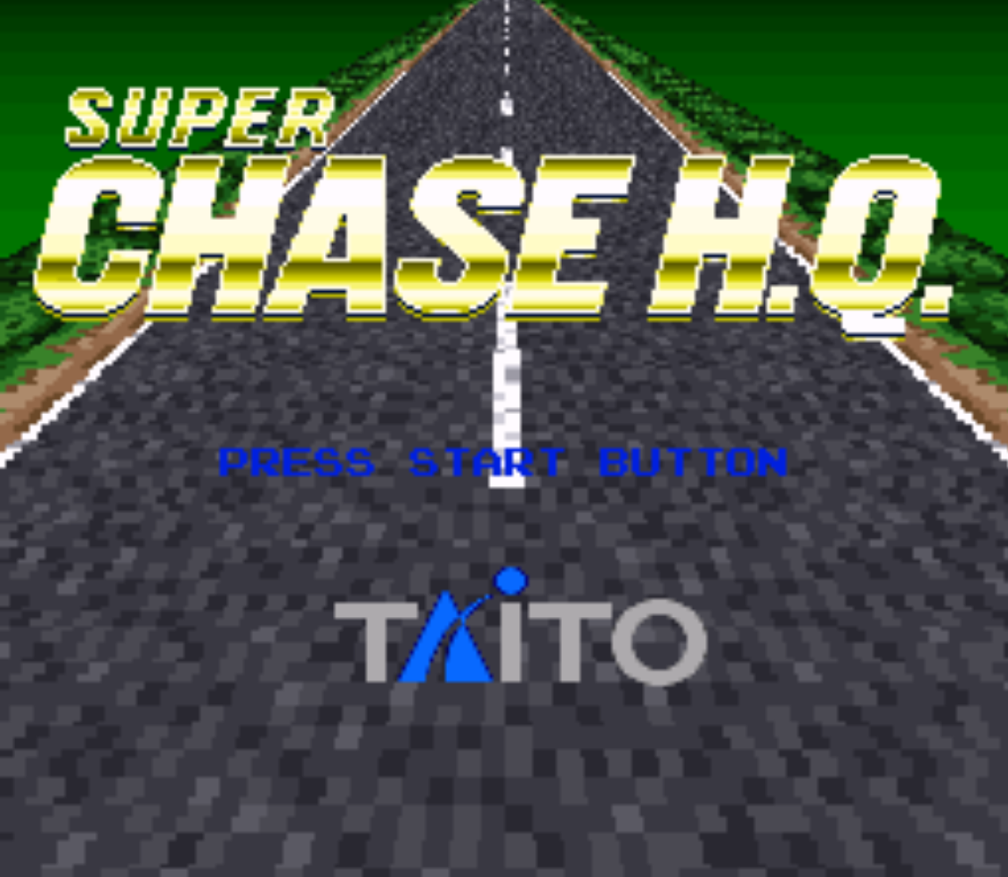 Super Chase HQ Title Screen