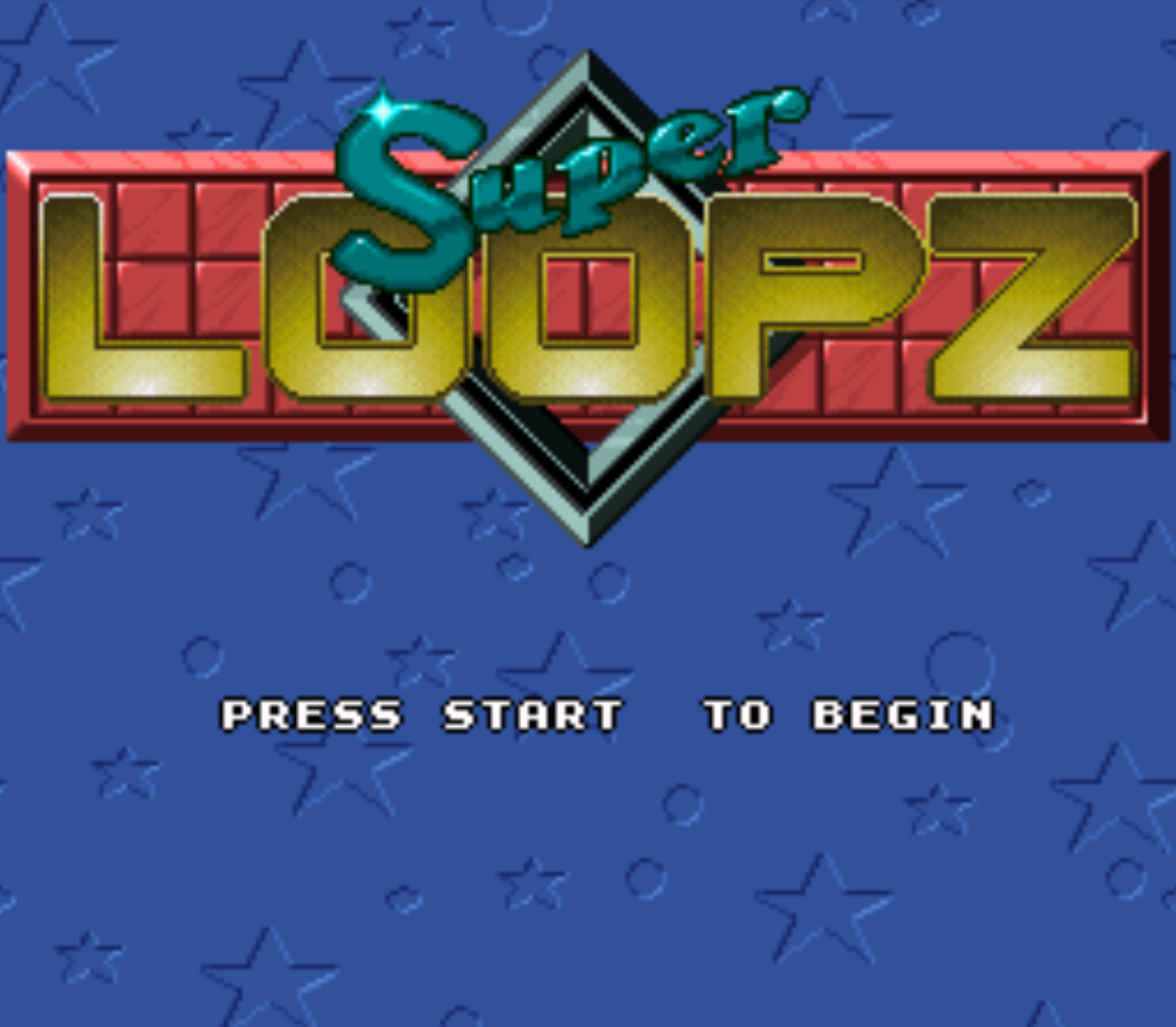 Super Loopz Title Screen
